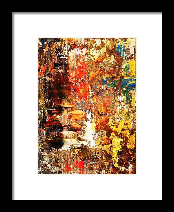 The Meaning Of Life Oil On Canvas Framed Print by Sasha Toporovsky