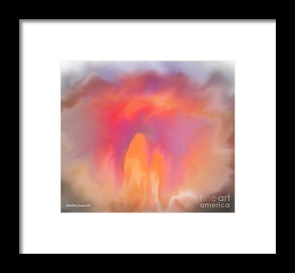 Computer Art Framed Print featuring the digital art The meeting place by Shelley Jones