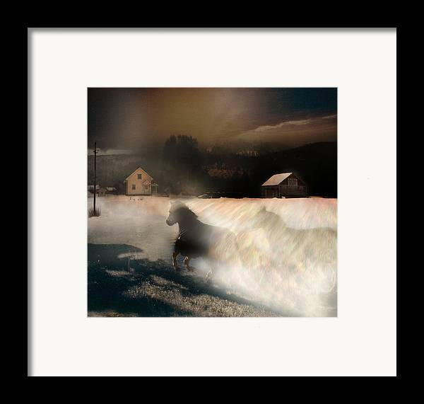 Framed Print featuring the digital art The Message by Henriette Tuer lund