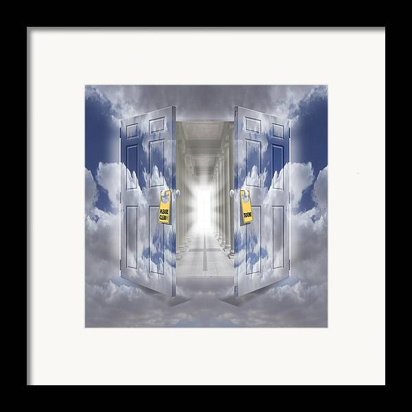 Surrealism Framed Print featuring the photograph The Message by Mike McGlothlen