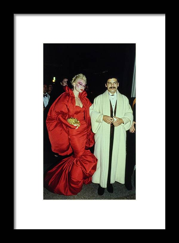 Costume Institute Framed Print featuring the photograph The Met Set Valerie Arnoff And Larry Legaspi by Tony Palmieri