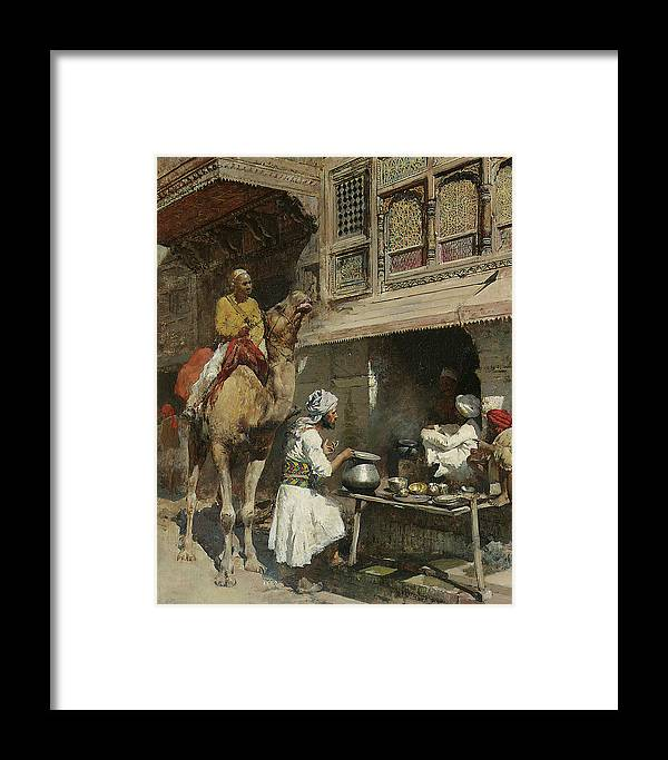 Metalsmith Framed Print featuring the painting The Metalsmith's Shop by Edwin Lord Weeks