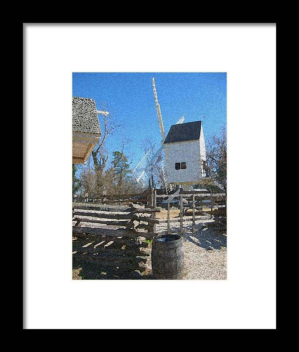 Mill Framed Print featuring the mixed media The Mill by Paul Barlo