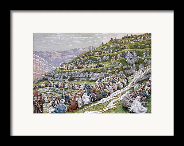 The Framed Print featuring the painting The Miracle Of The Loaves And Fishes by Tissot