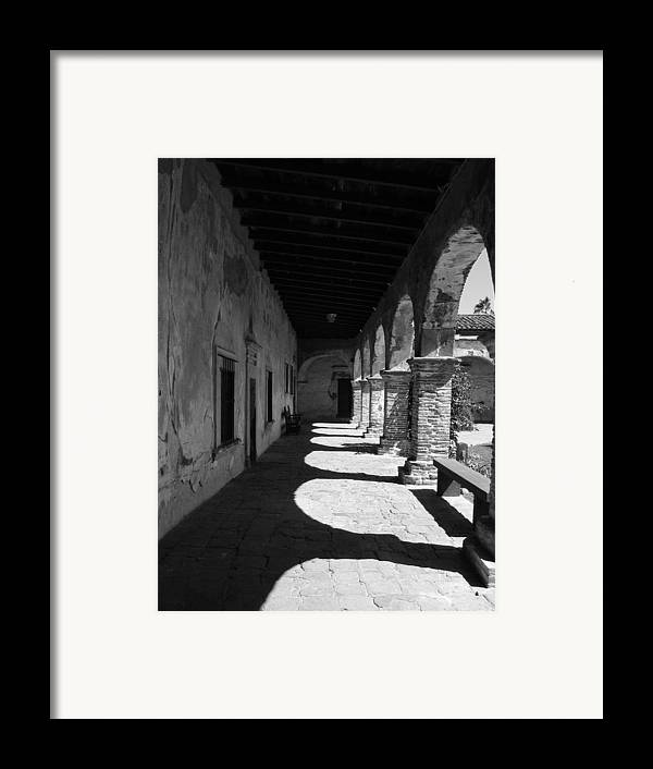 Travel Framed Print featuring the photograph The Mission Arches by Beverlee Singer