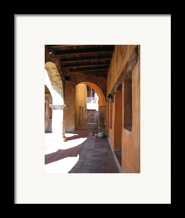 Travel Framed Print featuring the photograph The Mission At San Juan Capistrano by Beverlee Singer