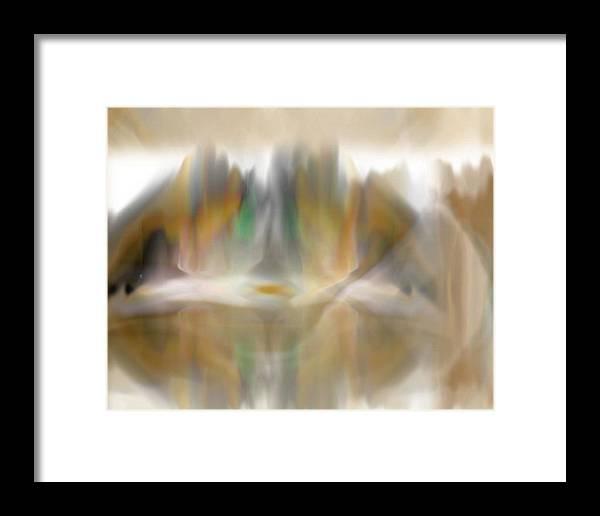 Abstract Framed Print featuring the digital art The Mist by John Krakora