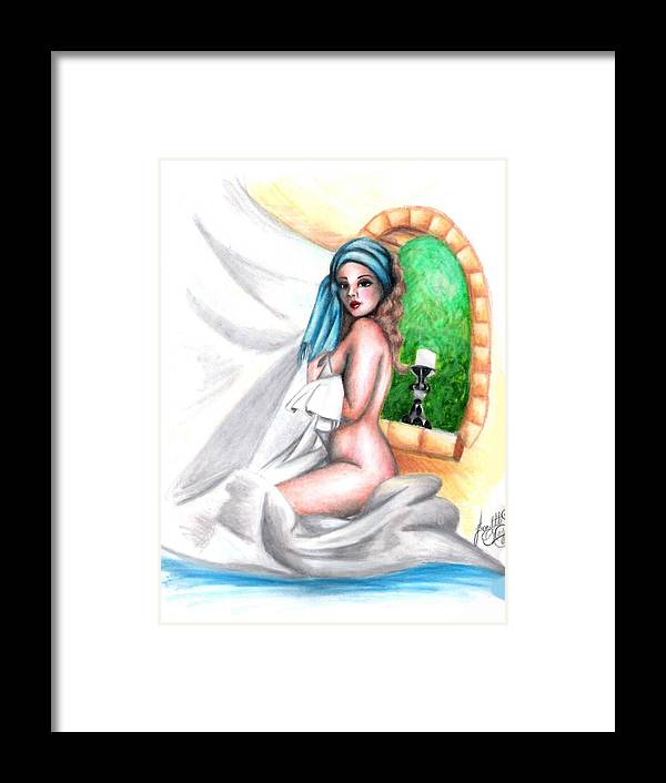 Figure Framed Print featuring the drawing The Mistress by Scarlett Royal