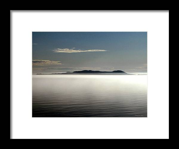 Canada Framed Print featuring the photograph The Mists Of Pic Island by Laura Wergin Comeau