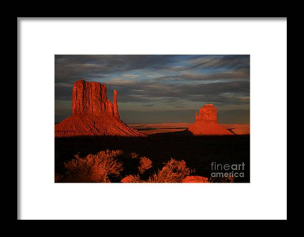 The Mittens Framed Print featuring the photograph The Mittens by Timothy Johnson