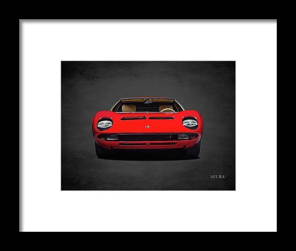 Lamborghini Miura Framed Print featuring the photograph The Miura by Mark Rogan
