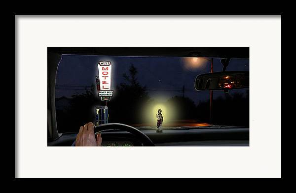 Surreal Framed Print featuring the digital art The Moment Of My Salvation by Evelynn Eighmey
