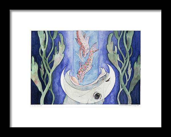 Surreal Framed Print featuring the painting The Moon Draws In by Eileen Hale
