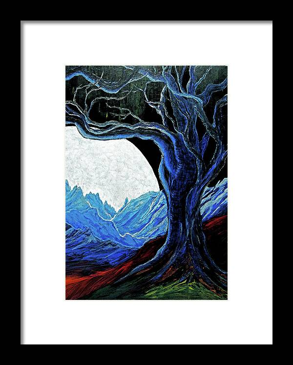 Moon Framed Print featuring the painting The Moon Rose by Pam Ellis