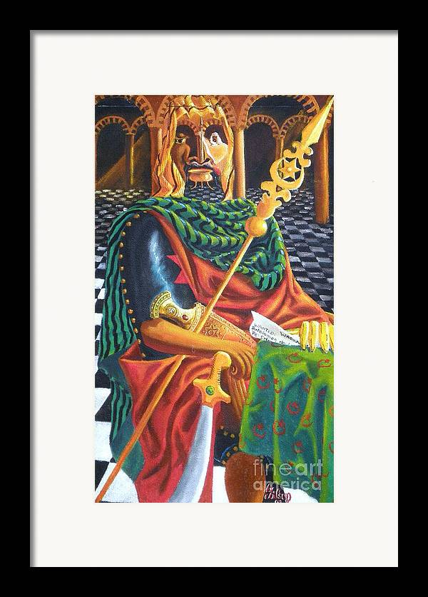Still-life; Interior Framed Print featuring the painting The Moorish General Othello by David G Wilson