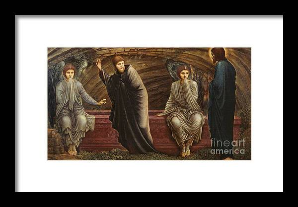 The Morning Of The Resurrection 1886 Sir Edward Coley Burne-jones Framed Print featuring the painting The Morning Of The Resurrection by MotionAge Designs