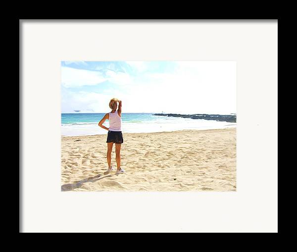 Framed Print featuring the painting The Morning Run Mbm Bahamas by Jonathan Galente