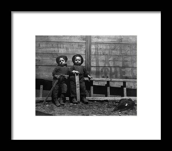 c77f0a6f15f 1890c The Mott Street Boys Framed Print featuring the painting The Mott  Street Boys by Jacob