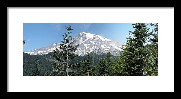 Mount Rainier Framed Print featuring the photograph The Mountain by Mark Camp
