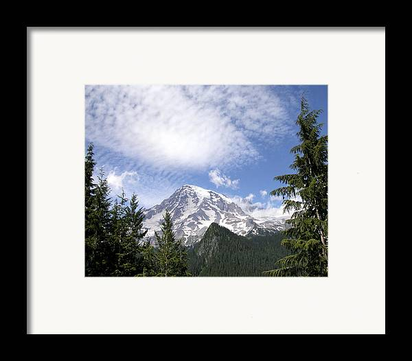 Mountain Framed Print featuring the photograph The Mountain Mt Rainier Washington by Michael Bessler