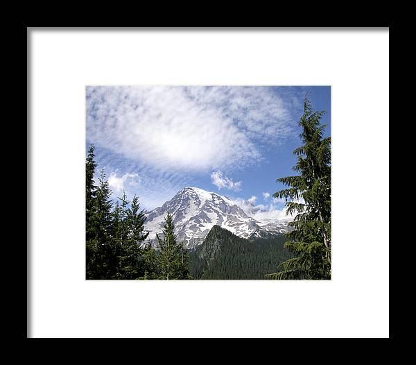 Mountain Framed Print featuring the photograph The Mountain Mt Rainier Washington by Michael Bessler