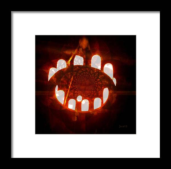 Fania Simon Framed Print featuring the digital art The Mouth Of The World - Forever Hungry by Fania Simon