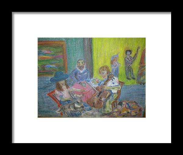 Music Framed Print featuring the painting The Music Room by Paula Andrea Pyle