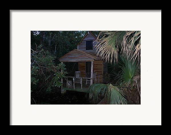 Hut Framed Print featuring the painting The Musicians Pad by Debbie May