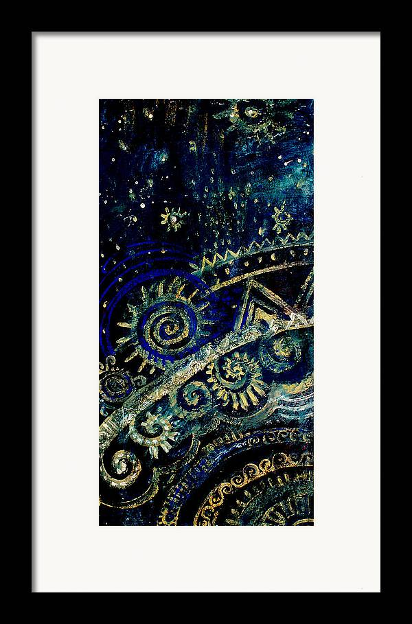 Mystic Framed Print featuring the painting The Mystery Of Earth  Deeper by Kseniya Nelasova