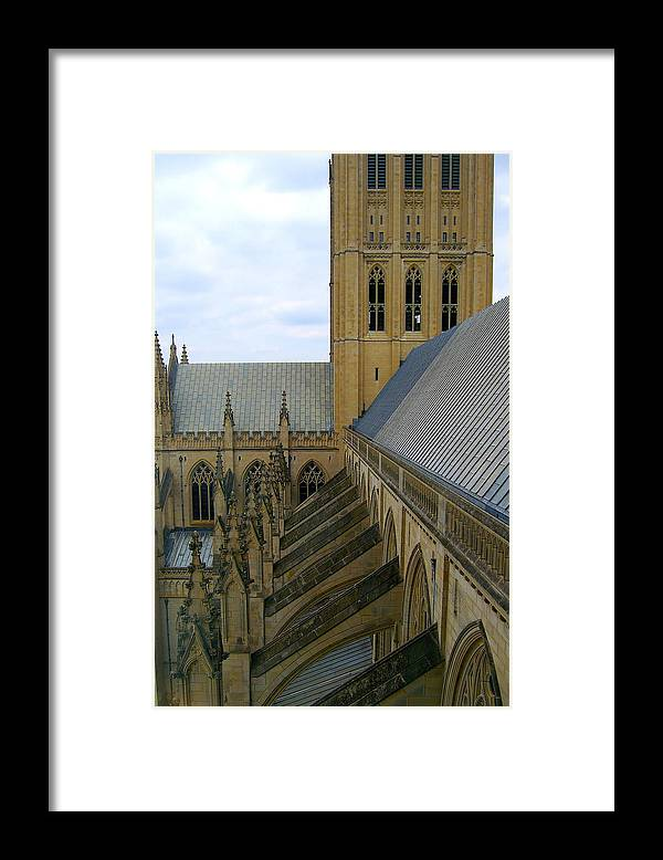 Cathedral Framed Print featuring the photograph The National Cathedral by Faith Harron Boudreau