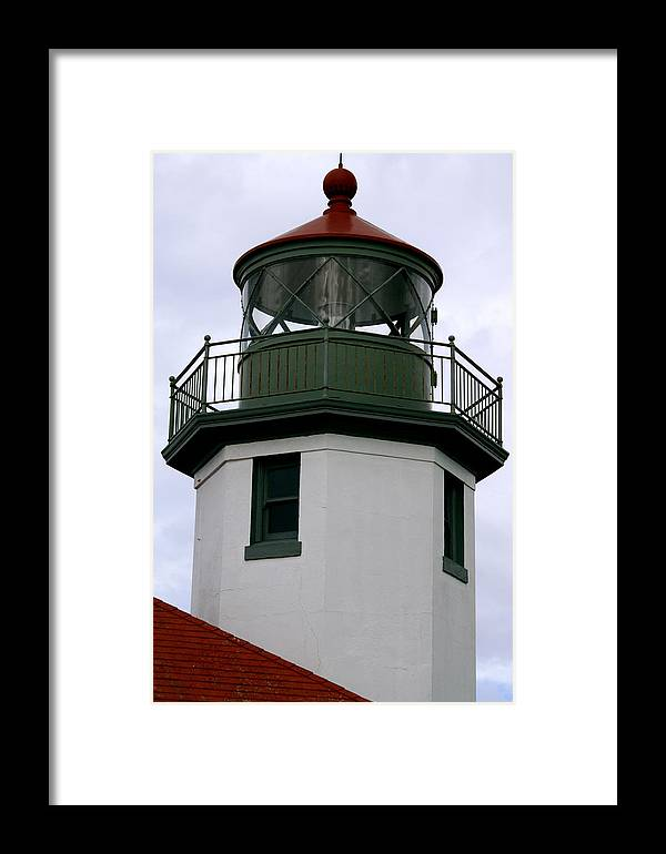 Tower Of Alki Lighthouse Framed Print featuring the photograph The Nautical Light by Sonja Anderson