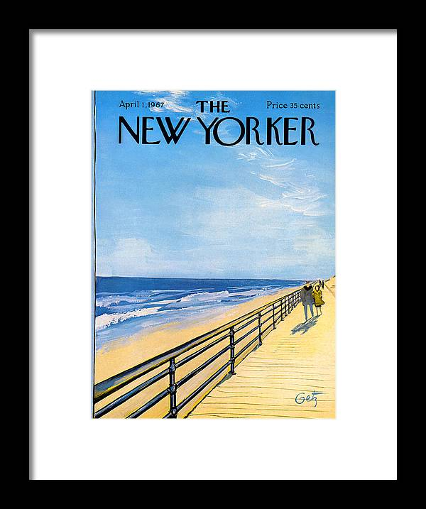 Arthur Framed Print featuring the painting The New Yorker Cover - April 1st, 1967 by Arthur Getz