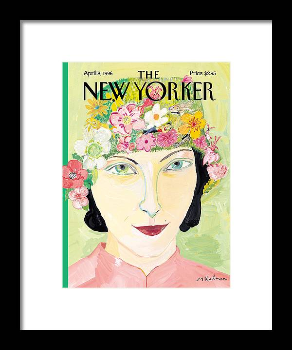 Maira Framed Print featuring the photograph The New Yorker Cover - April 8th, 1996 by Maira Kalman
