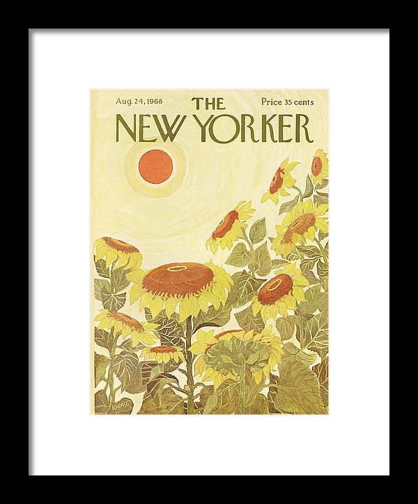 Ilonka Framed Print featuring the painting The New Yorker Cover - August 24th, 1968 by Conde Nast