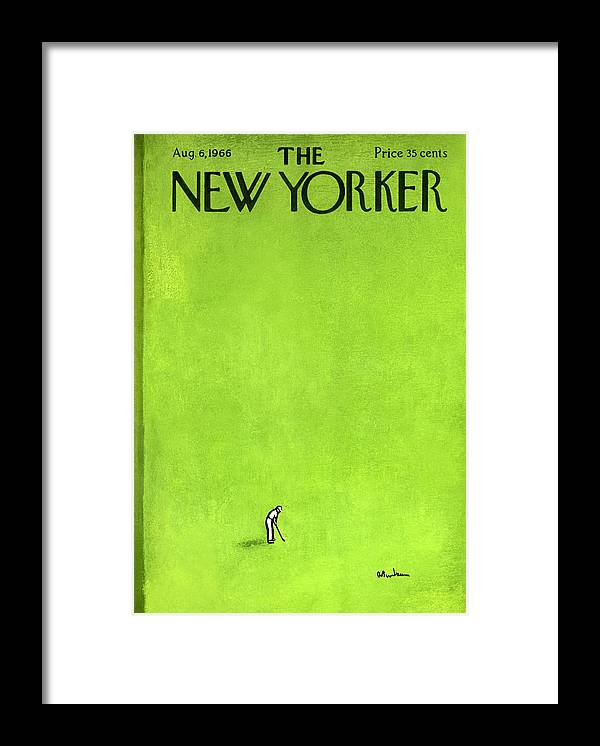 Leisure Framed Print featuring the painting The New Yorker Cover - August 6th, 1966 by Abe Birnbaum