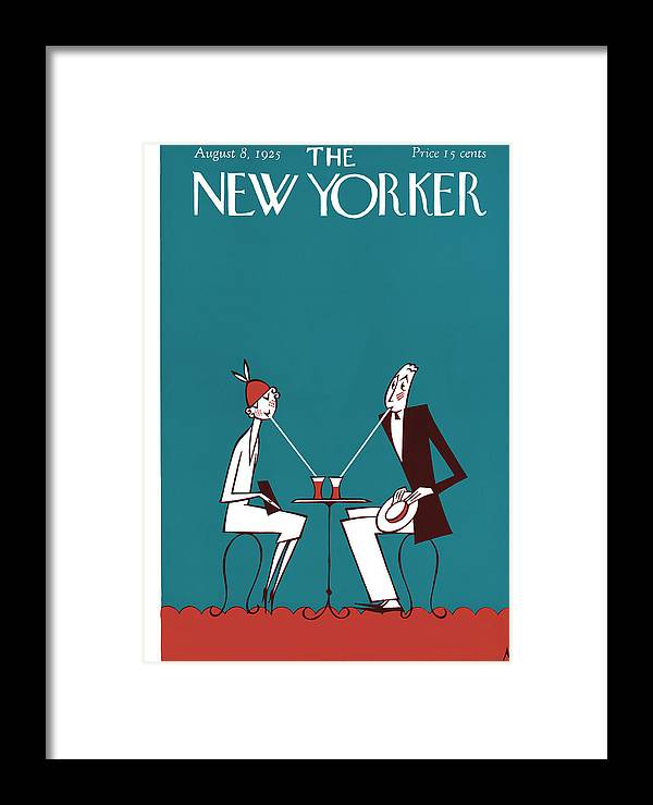 Deco Framed Print featuring the painting The New Yorker Cover - August 8th, 1925 by Julian de Miskey