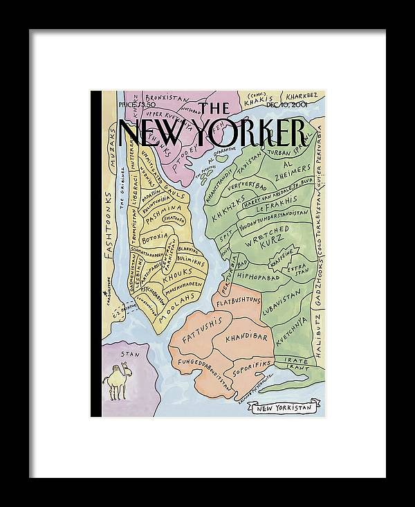 New Framed Print featuring the photograph New Yorkistan by Maira Kalman and Rick Meyerowitz