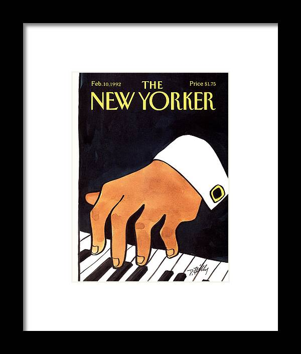 Entertainment Framed Print featuring the painting The New Yorker Cover - February 10th, 1992 by Donald Reilly