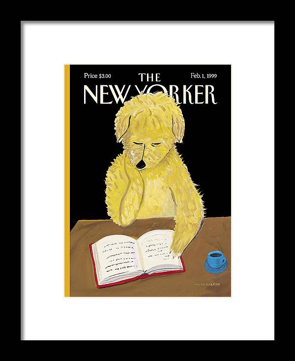 Animals Framed Print featuring the photograph The New Yorker Cover - February 1, 1999 by Maira Kalman