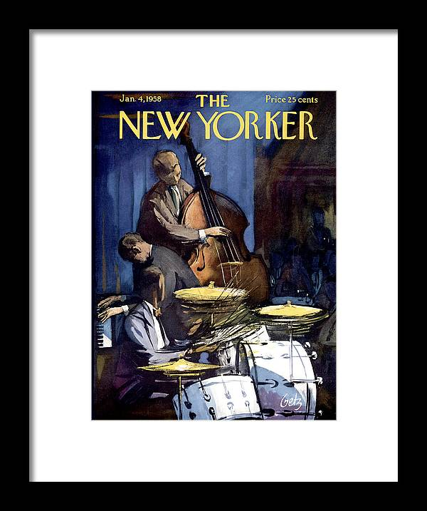 Concert Framed Print featuring the painting New Yorker January 4th, 1958 by Arthur Getz