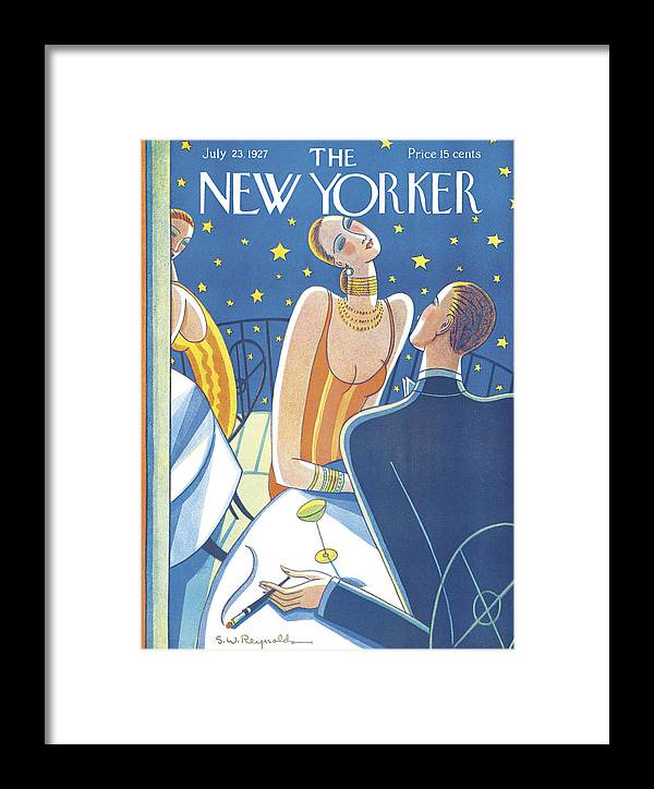 S.w. Framed Print featuring the photograph The New Yorker Cover - July 23rd, 1927 by Stanley W Reynolds
