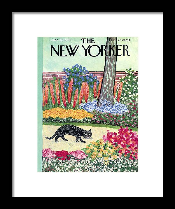 Animals Framed Print featuring the painting New Yorker Cover - June 18, 1960 by William Steig