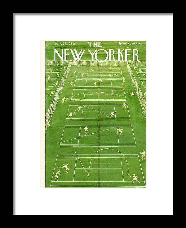 The New Yorker Cover - June 25th, 1960 Framed Print