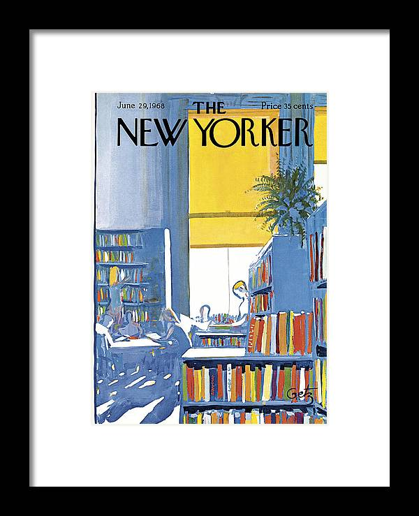 Books Framed Print featuring the painting New Yorker June 29th 1968 by Arthur Getz