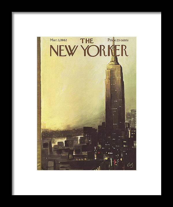 Arthur Framed Print featuring the painting The New Yorker Cover - March 3rd, 1962 by Arthur Getz