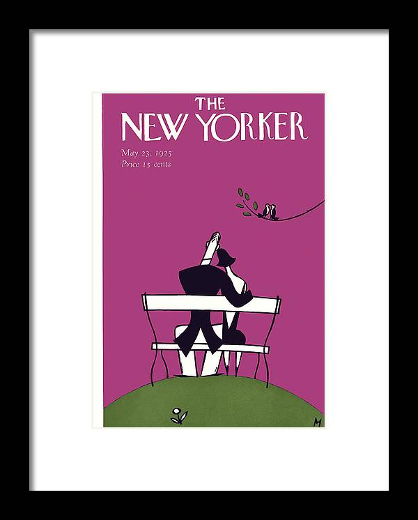 Love Framed Print featuring the painting The New Yorker Cover - May 23rd, 1925 by Julian de Miskey