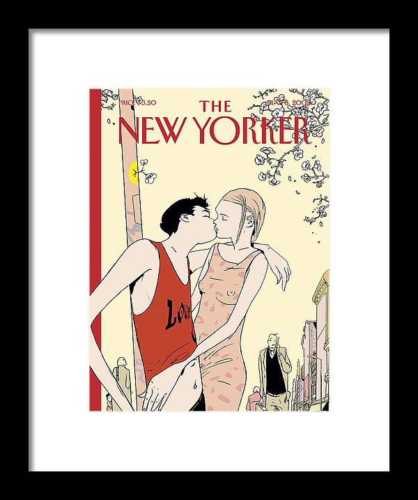 Love Framed Print featuring the painting The New Yorker Cover - May 6th, 2002 by Istvan Banyai