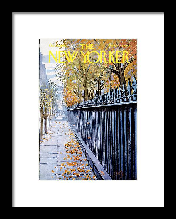 Season Framed Print featuring the painting New Yorker October 19, 1968 by Arthur Getz