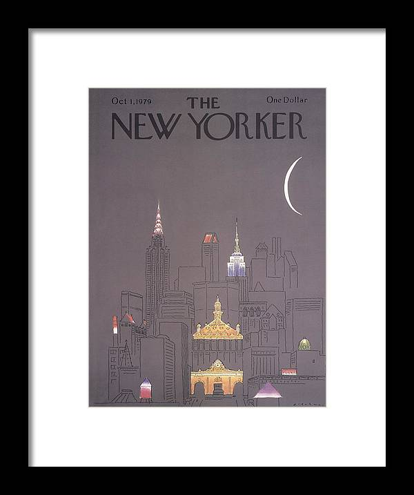 Urban Framed Print featuring the drawing New Yorker October 1st, 1979 by RO Blechman