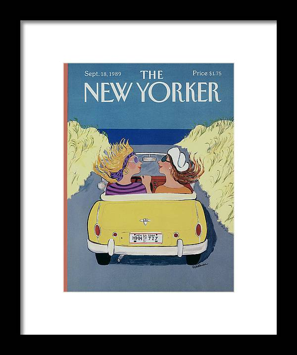 Autos Framed Print featuring the photograph The New Yorker Cover - September 18th, 1989 by Barbara Westman